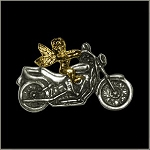 Motorcycle with Angel Pin