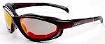Curvz Fire Red Lens Maroon Frame