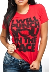 Punch You in Face Women Shirt