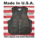 Made In USA Vest - Extra Long Back - Side lace